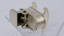 Dutch sterling silver miniature baby's rocking crib possibly dolls house