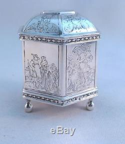 Etched Figural Sterling Metropolitan Museum of Art Dutch Marriage Footed Box