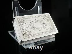 Immaculate Large Dutch Antique Silver Vinaigrette of Book Form, Hallmarked 1892