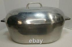 Magnalite Wagner Ware Dutch Oven Oval Roaster Pot Set 4265-P 4267-P