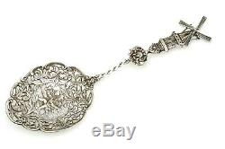 Old Dutch Themed Berry Server Silver