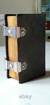 Old & rare Dutch Bible in fine binding with double silver locks, 19th century