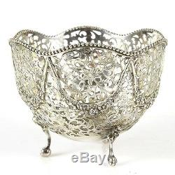 Pair Of Dutch Export Sterling Silver Sweetmeat Bowls Netherlands Circa 1900