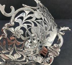 Pierced and engraved dutch silver basket Nice quality