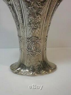 Queen City Silver Co. Silver Plate 15.75 Embossed Bride's Basket, Dutch Design