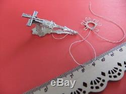 RARE ANTIQUE French Ornate Tatting Shuttle WINDMILL DUTCH Silver Plated