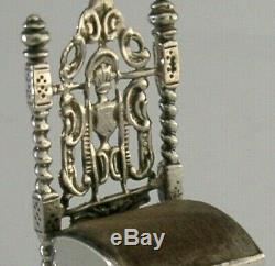 RARE SOLID SILVER NOVELTY PIN CUSHION VICTORIAN SEWING ANTIQUE DUTCH c1900