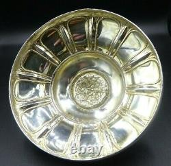 Rare Antique Dutch Sterling Silver & Frosted Glass Butter Dish Cow Finial c1863