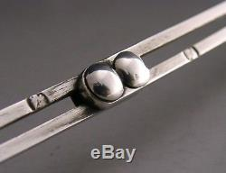 Rare Dutch Solid Silver Knitting Needle Guard Sewing Needlework Antique 1885