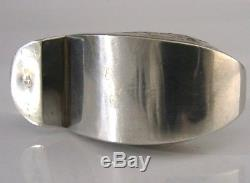 Rare Dutch Solid Silver Snuff Clog Shoe Snuff Box 1908 Novelty Antique
