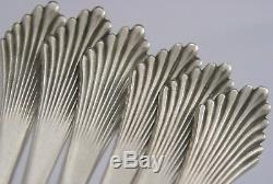 SIX DUTCH SOLID SILVER SEAFOOD COCKTAIL FORKS c1910-1920'S ANTIQUE