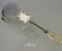 STUNNING RARE DUTCH SOLID SILVER FISH SERVER SLICE VICTORIAN 1895 ANTIQUE 150g