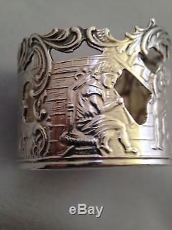 Set of 6 Dutch Solid Silver Glass Holders Amsterdam 1900 104.2g