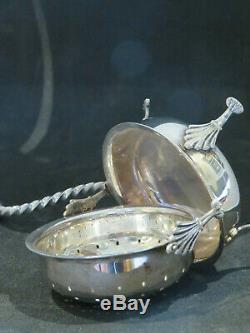 Solid Silver Novelty Tea Strainer Dutch 19th C