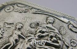Stunning Antique Dutch Solid Sterling Silver Table Box 1899 Victorian