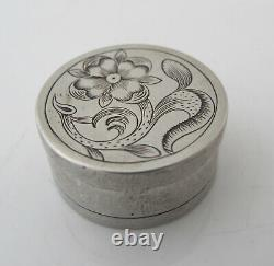 Superb late 17th Century Continental silver patch or counter box