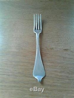 VERY RARE ANTIQUE SOLID SILVER DOG NOSE SMALL 4 PRONG FORK DUTCH c1800