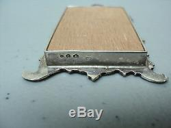 VINTAGE DUTCH. 833 SILVER MINIATURE DOLL HOUSE LARGE WALL MIRROR with HANGER