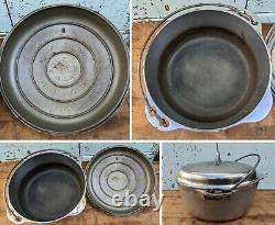 VTG GRISWOLD #8 CAST IRON CROME DUTCH OVEN 1278 With SELF BASTING LID 1288 (LBL)