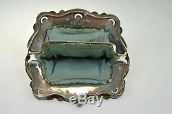 Vintage Chased and Hall Marked Silver Beaded Coin Purse, Dutch/ Netherlands