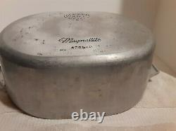 Vintage Wagner Ware Sidney 4265-P Magnalite Dutch Oven Oval Roaster with Lid